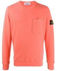 Stone Island Orange T.co+old Sweatshirt for men