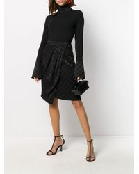 Top de punto Karl x Carine Karl Lagerfeld de color Black