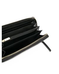 Calvin Klein - Black Studded Continental Wallet - Lyst