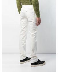 Jeans slim di Maison Margiela in White da Uomo