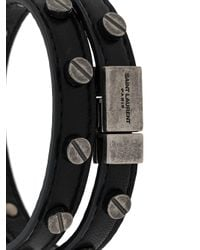 Saint Laurent Wikkel Armband in het Black voor heren