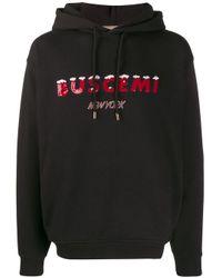 メンズ Buscemi スパンコール ロゴ パーカー Black