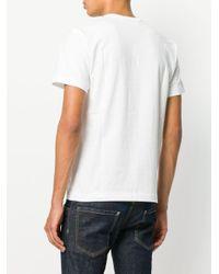 COMME DES GARÇONS PLAY T-Shirt mit grafischem Print in White für Herren
