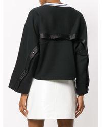 PUMA Black V-neck Sweatshirt