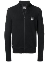 Philipp Plein Black Logo Print Sweatshirt for men
