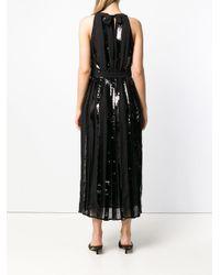 Twin Set Black Sequin Paneled Dress