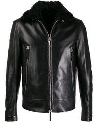 Veste en cuir Deven Giuseppe Zanotti pour homme en coloris Black