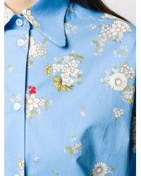 N°21 フローラルプリント シャツ Blue