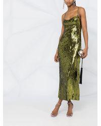 Galvan スパンコール ドレス Green