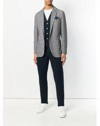 Circolo 1901 Blue Pinstripe Waistcoat for men