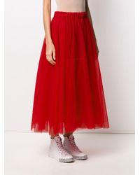 Jupe longue en tulle P.A.R.O.S.H. en coloris Red
