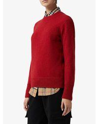 Burberry カシミア セーター Red