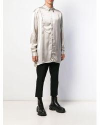 メンズ Isabel Benenato オーバーサイズ シャツ Multicolor