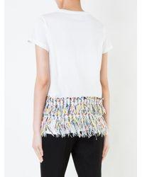 Coohem White Fringed T-shirt