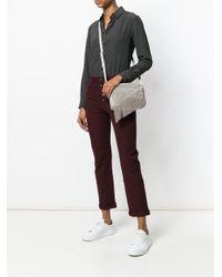 Fabiana Filippi Gray Embellished Curtain Shoulder Bag