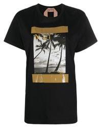 N°21 プリント Tシャツ Black