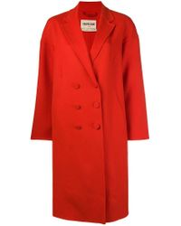 Roberto Cavalli Red Double Breasted Coat