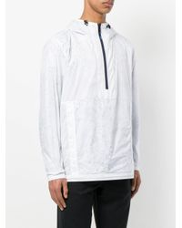 PS by Paul Smith White Packable Micro-ripstop Half-zip Jacket for men