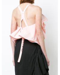 Rosie Assoulin ラッフル ブラウス Pink
