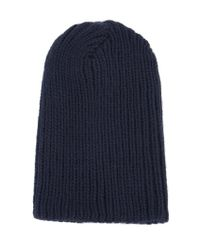 The Elder Statesman - Blue Ribbed Beanie for Men - Lyst