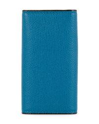 Valextra - Blue Keyring Case - Lyst