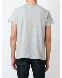 Levi's Gray Colour Block T-shirt for men