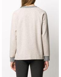 Peserico バイカラー スウェットシャツ Gray