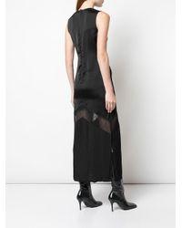 Robe à empiècements en dentelle Marina Moscone en coloris Black