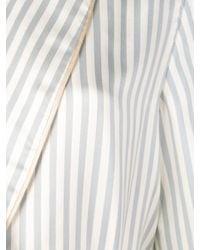 Халат В Полоску Kiki de Montparnasse, цвет: White