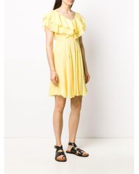 Liu Jo ラッフル フレアドレス Yellow