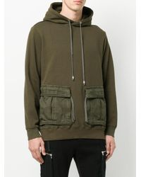 Cy Choi Green Pocket Detail Hoodie for men