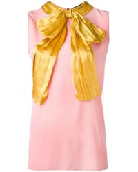 Gucci Pink Pussy Bow Sleeveless Blouse