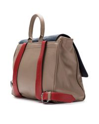 Mara Mac - Gray Leather Panelled Backpack - Lyst