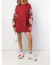 Vestito modello a fiori di Off-White c/o Virgil Abloh in Red