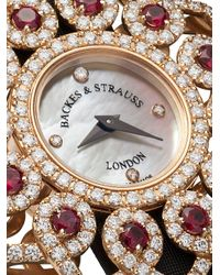Orologio Victoria Brilliant Red Rose 36mm di Backes & Strauss in White