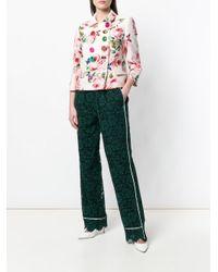 Pantalones de encaje con talle alto Dolce & Gabbana de color Green