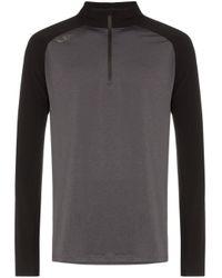 2xu Black And Grey Ghst Zip Front High Neck Jumper for men