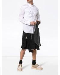 メンズ Comme des Garçons Torn ストライプ ショートパンツ Black