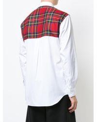 Comme des Garçons - White Plaid Back Panel Shirt for Men - Lyst