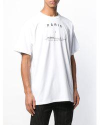 T-shirt con stampa di Raf Simons in White da Uomo