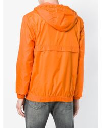 Ck Jeans Orange Half Zip Windbreaker for men