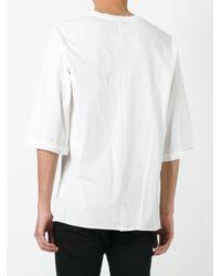 Thom Krom | White Flared Sleeves T-shirt for Men | Lyst