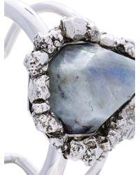 Alexander McQueen - Metallic Stone Cuff - Lyst