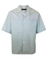 Camisa a rayas con motivo degradado Qasimi de hombre de color Blue
