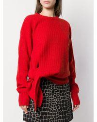 Miu Miu Red Asymmetrischer Pullover