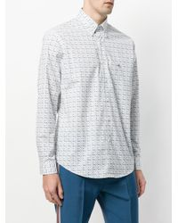 Etro - White Fine Paisley Print Shirt for Men - Lyst