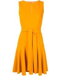 Paule Ka Orange Kleid mit Gürtel