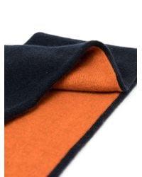 Sciarpa bicolore di N.Peal Cashmere in Blue
