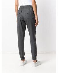 ODEEH Gray Elasticated Track Pants