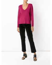 Egrey Pink Panelled Knit Blouse